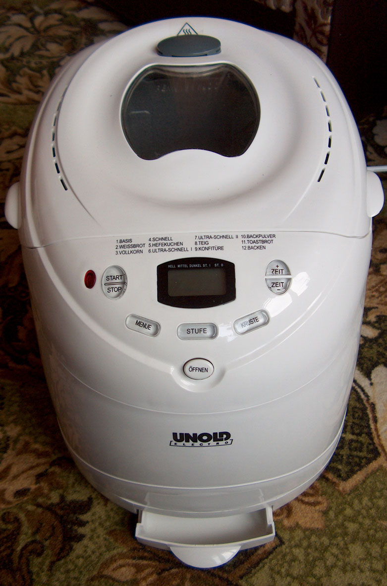Хлебопечь UNOLD 8600 - выпечка хлеба
